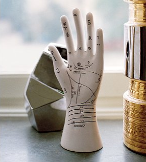 palm reader ceramic | it gives you a hand and a palm reading. The markings   Hand JewelryJewelry StandJewellery ...
