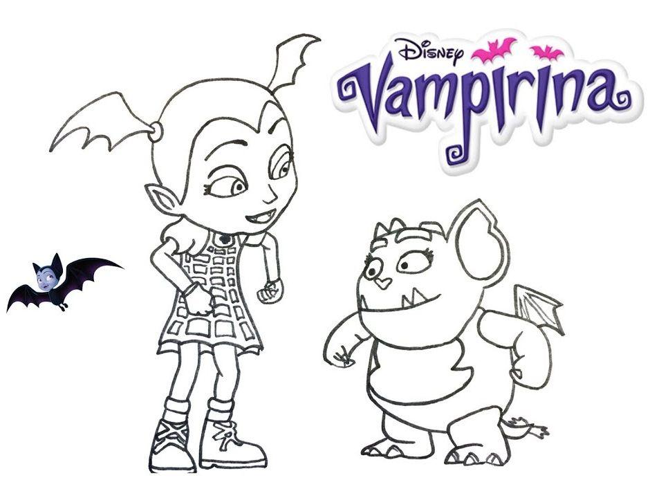 Vampirina And Gregoria Coloring Disney Junior Page
