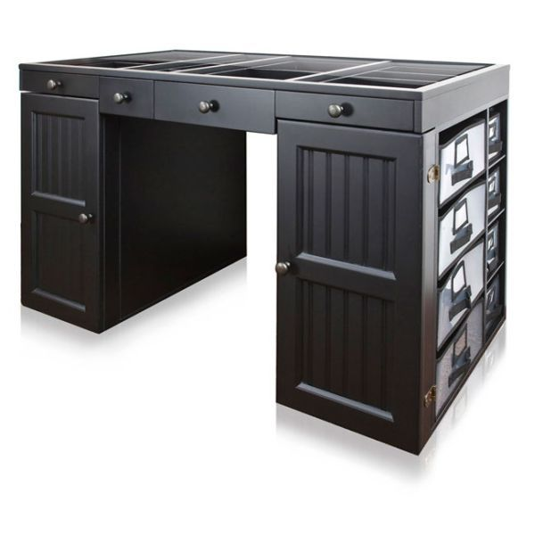 Ez View Black Craft Desk Craft Desk Desk Black Desk