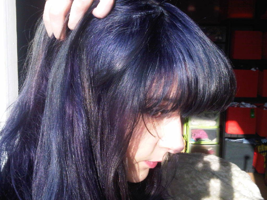 Manic Panic Shocking Blue On Unbleached Hair Google Search