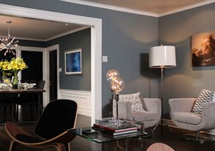 Paint the rooms the same color to make it feel more open for Jeff lewis bedroom designs
