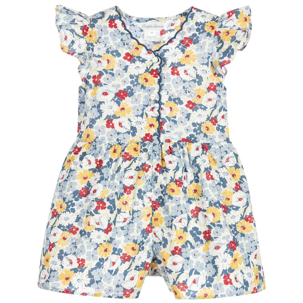 75da3340ac Baby Girls Floral Playsuit