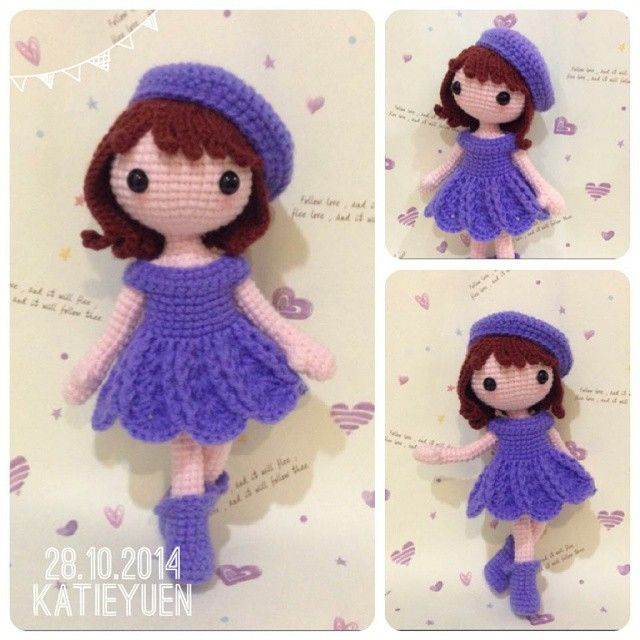 Crochet Doll Pattern Cute : amigurumi cute crochet doll handmade kawaii Amigurumi ...