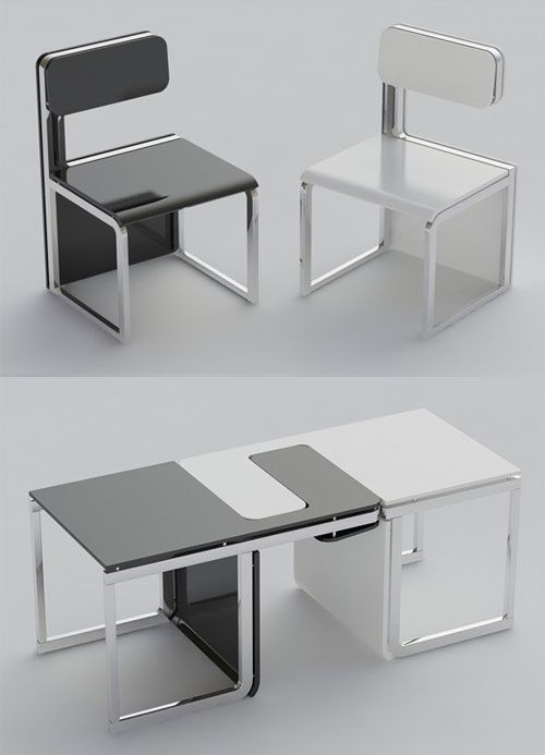 Claudio Sibille Sensei Dual Purpose Chair Or Table Set Creative