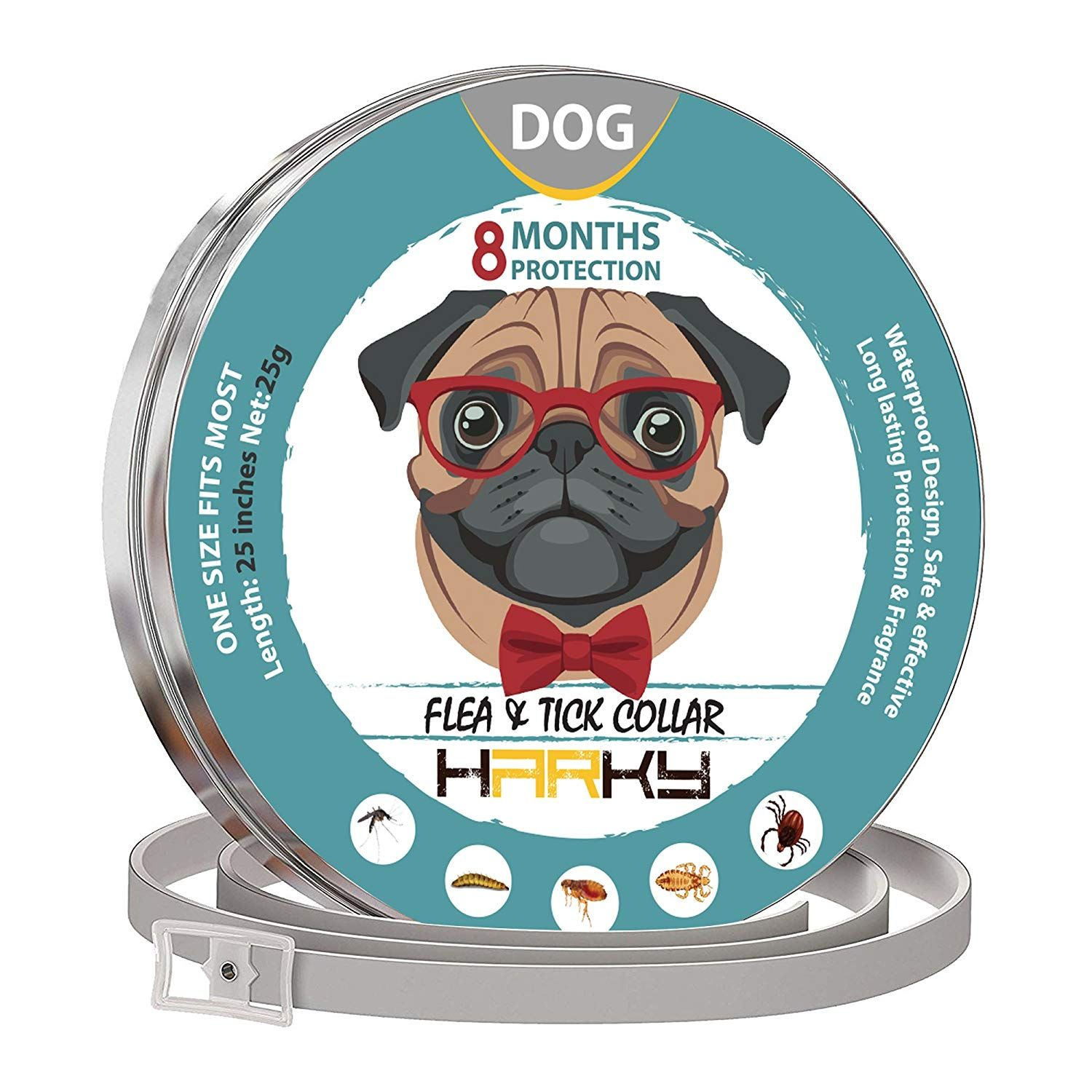 Harky Dog Flea Collar Prolonged Tick Prevention Waterproof And Safe Dog Collar Natural Ingredients And Adjustable Flea Medici Fleas Tick Prevention Ticks