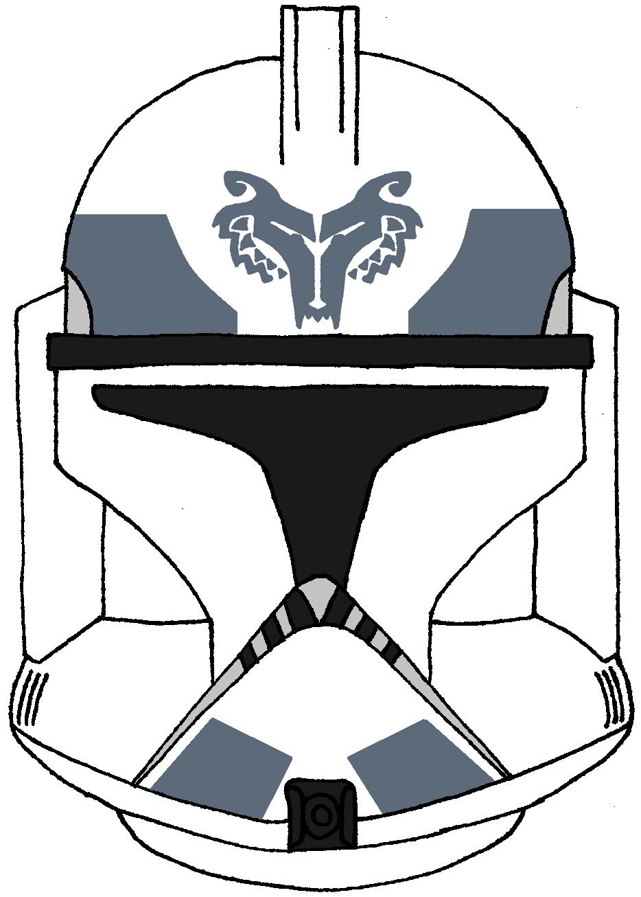 Clone Trooper Helmet Wolfpack 2 Clone Trooper Helmet Star Wars Helmet Star Wars Clone Wars