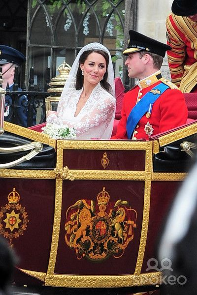 Prince William And Kate Middleton Leaving Westminster Abbey By Royal