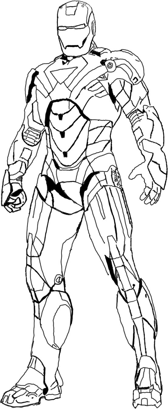 heroes iron man coloring pages