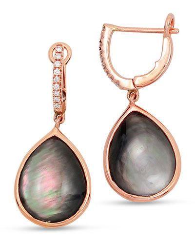 8d9cd95f16b Frederic Sage Luna 18k Rose Gold Black Mother-of-Pearl Earrings ...