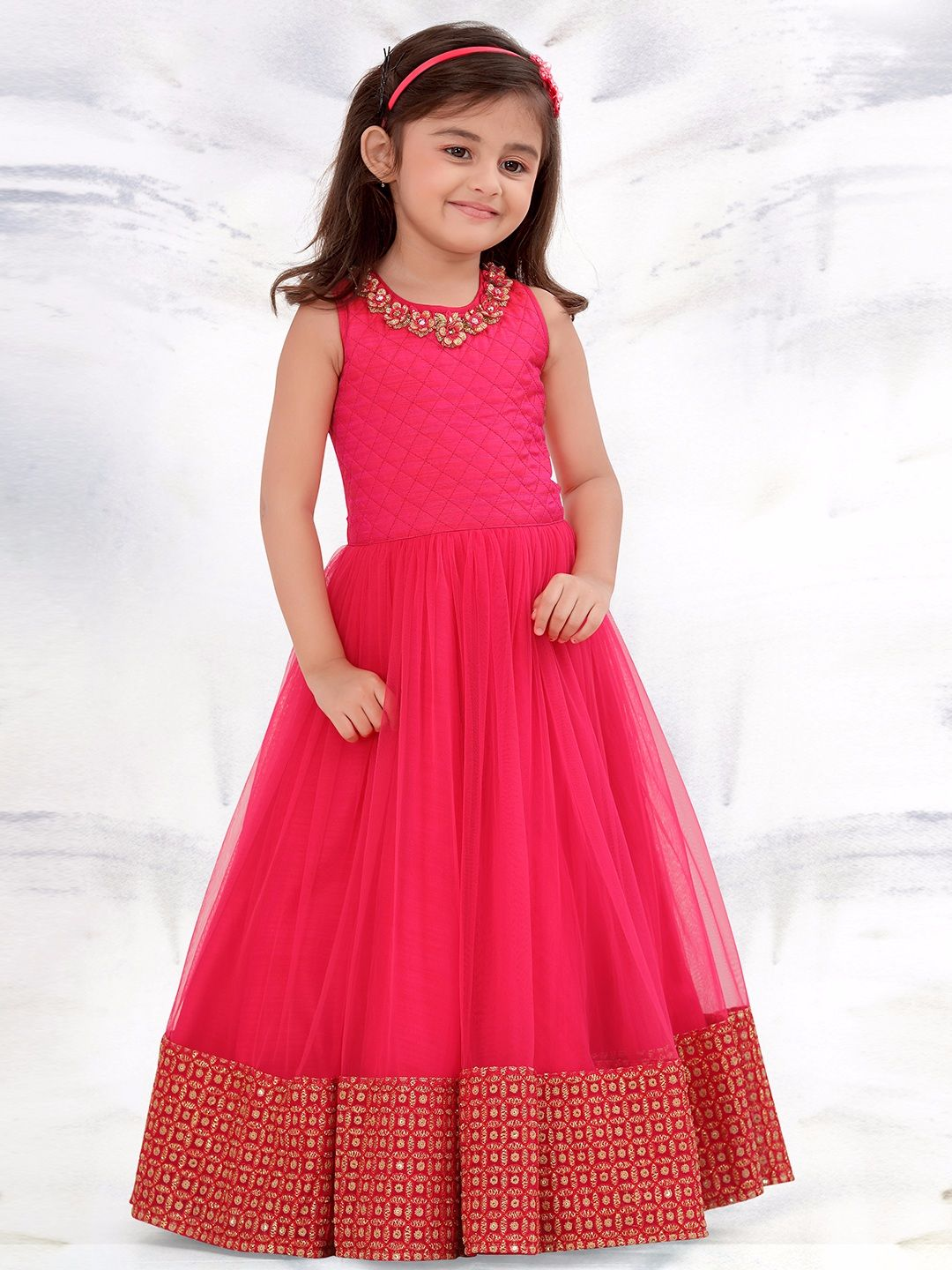 Shop G3 Exclusive net preety pink party wear gown online from ...