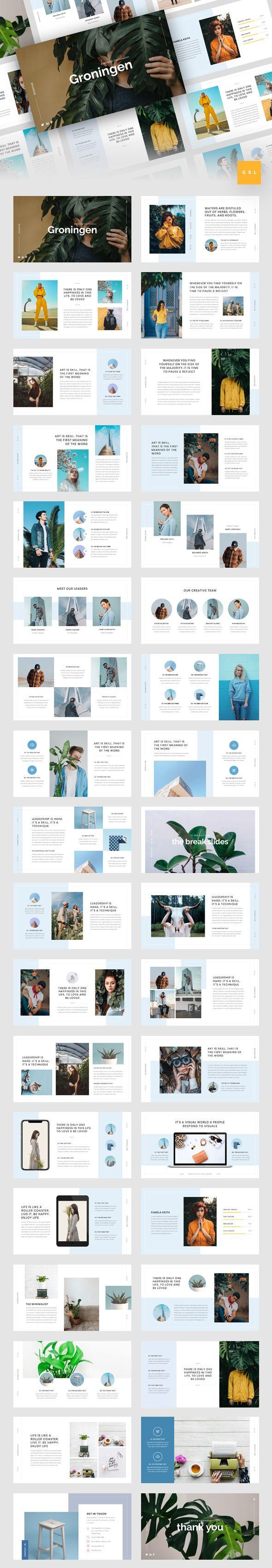 Groningen - Minimal Google Slides Template  Google Slides template