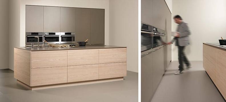 Mobiliario de cocina Dica modelo Serie 45 en Olmo Blanqueado. Con la ...
