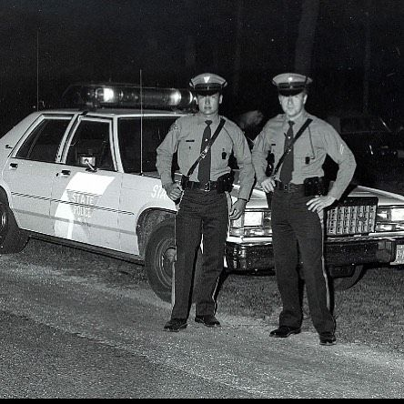 New Jersey State Police Njsp In What Looks Like The 1960s Old Police Cars Police Uniforms Police Car Pictures