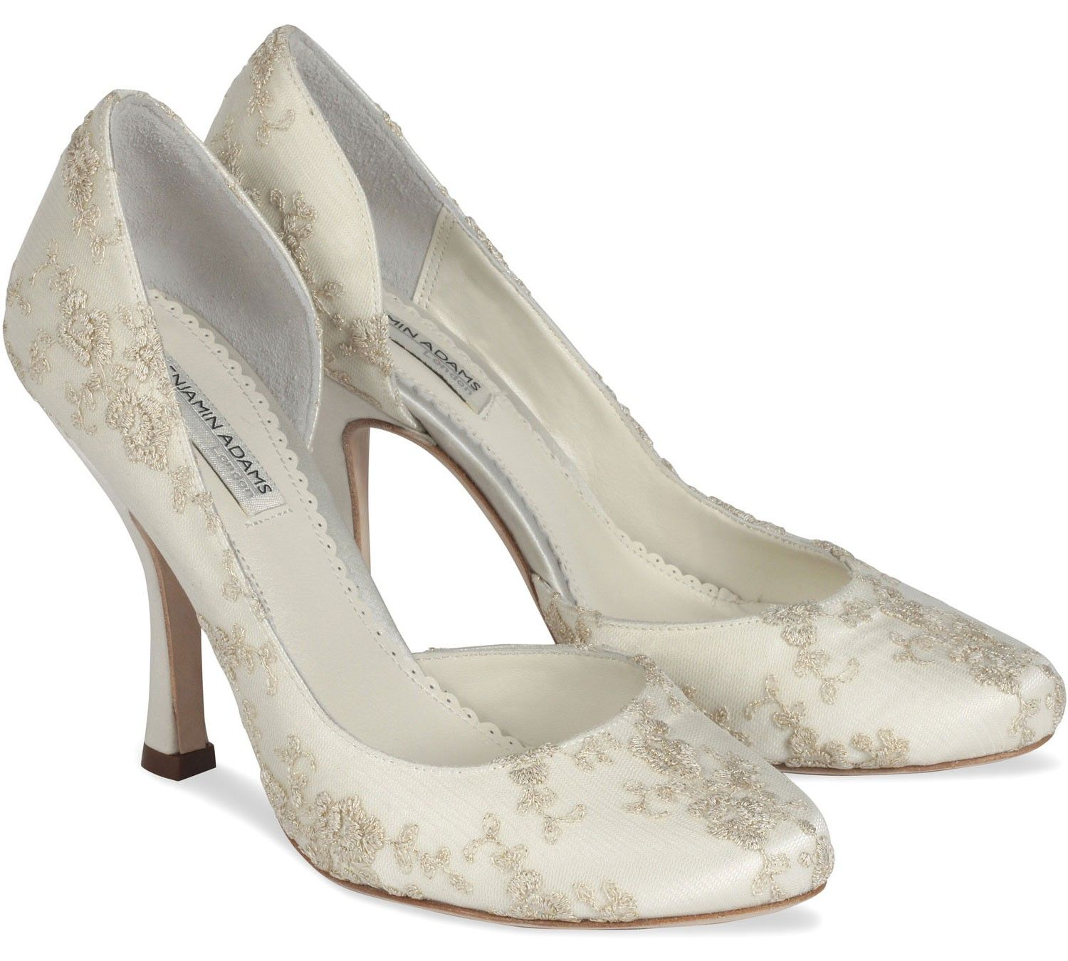 Ivory Benjamin Adams Elizabeth Bridal Shoes 21000 The Are A Beautifully Embroidered
