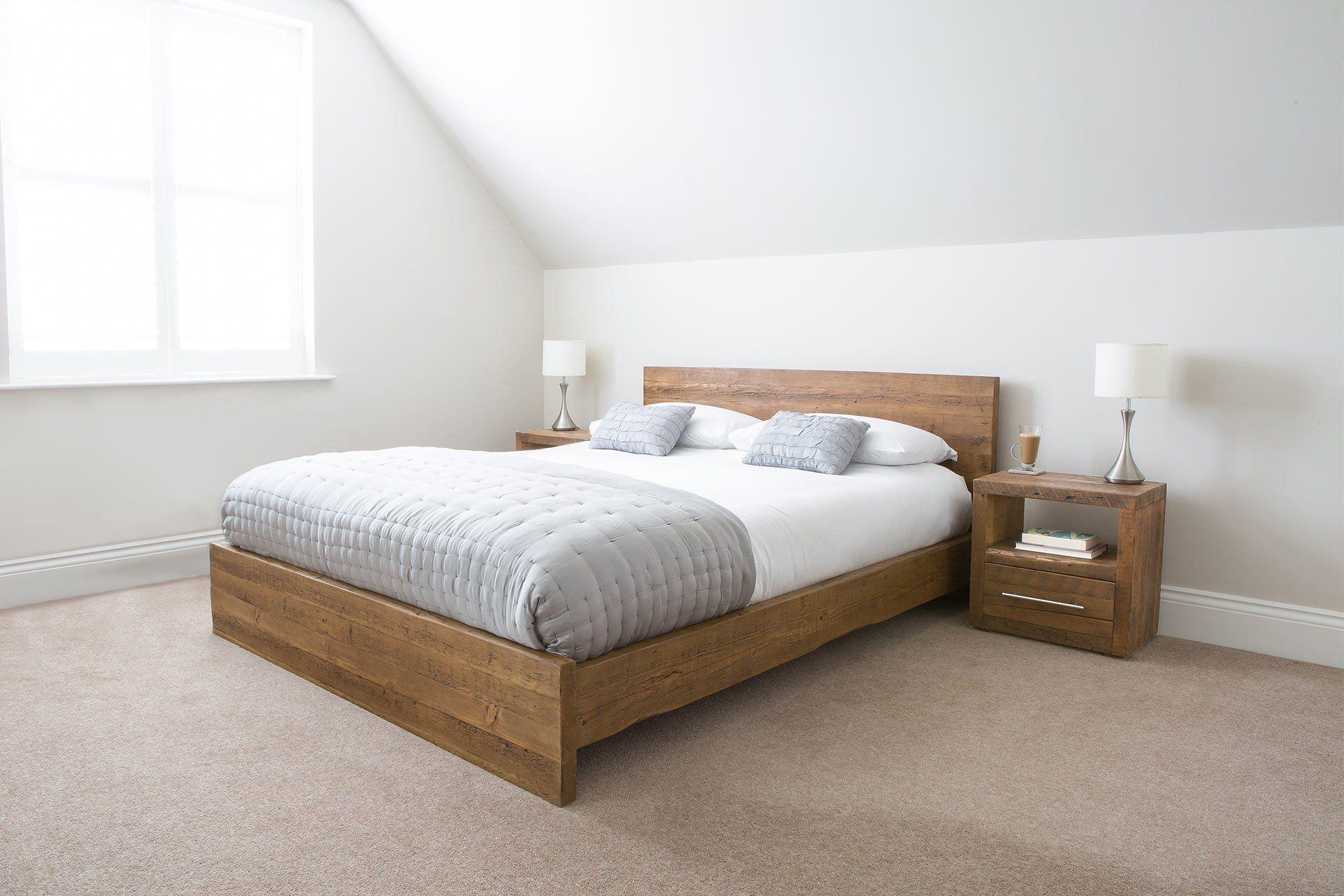 d58150e121 Branson Loft Bed in 2019   Kamar Tidur   Rustic wooden bed, Bed ...