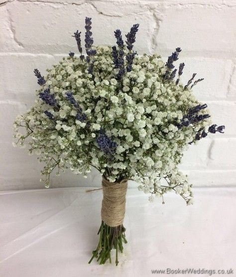 Wedding Gifts Next Day Delivery: Bridesmaid Bouquet Of Gypsy Grass And Lavender