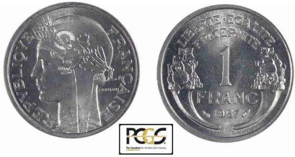 1 franc morlon aluminium 1957 pinterest monnaie francaise premi re ann e et. Black Bedroom Furniture Sets. Home Design Ideas