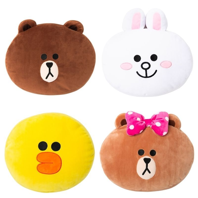 Line Friends Official Goods 30Cm Soft Cushion Brown Cony Sally Choco Korea 44dbbe2f3d