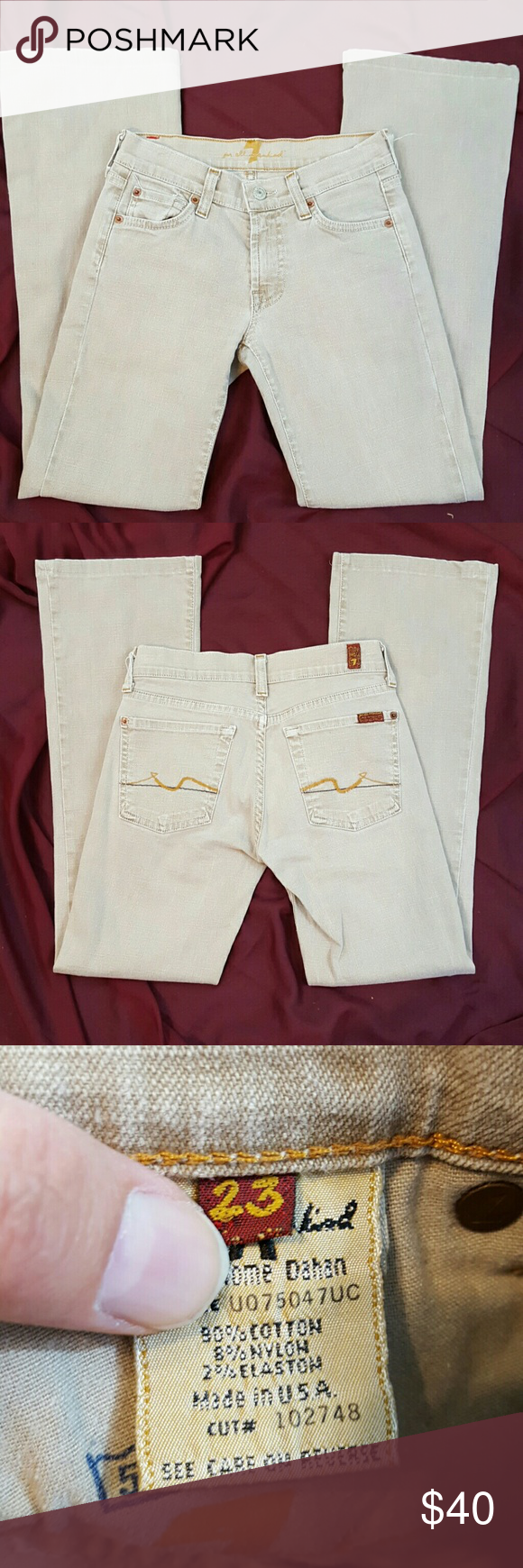 817d827624345 7 for All Mankind Jean's Excellent condition. Size 23 which is equal to a 00