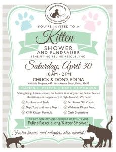 Celebrate The Arrival Of Kitten Season 2016 And Help Feline Rescue Raise Funds To Care For Our Oodles Of Kittens On Saturday Kitten Season Kittens Cat Rescue