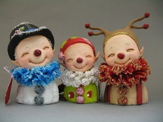Christmas elves, wanted to say hello and two also say goodbye....    doodles   The three amigos   almost done   finished   This little Winki...