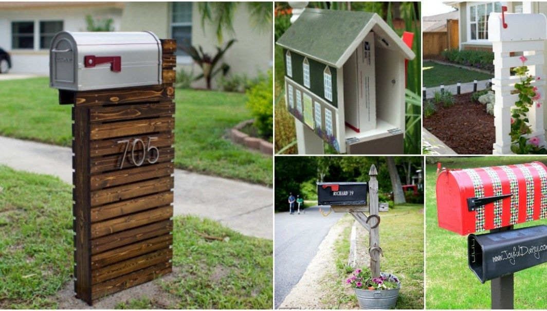 15 Amazingly Easy Diy Mailboxes That Will Improve Your Curb Appeal Diy Mailbox Old Bricks Curb Appeal