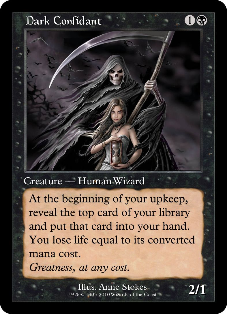 Dark confidant magic the gathering cards mtg altered