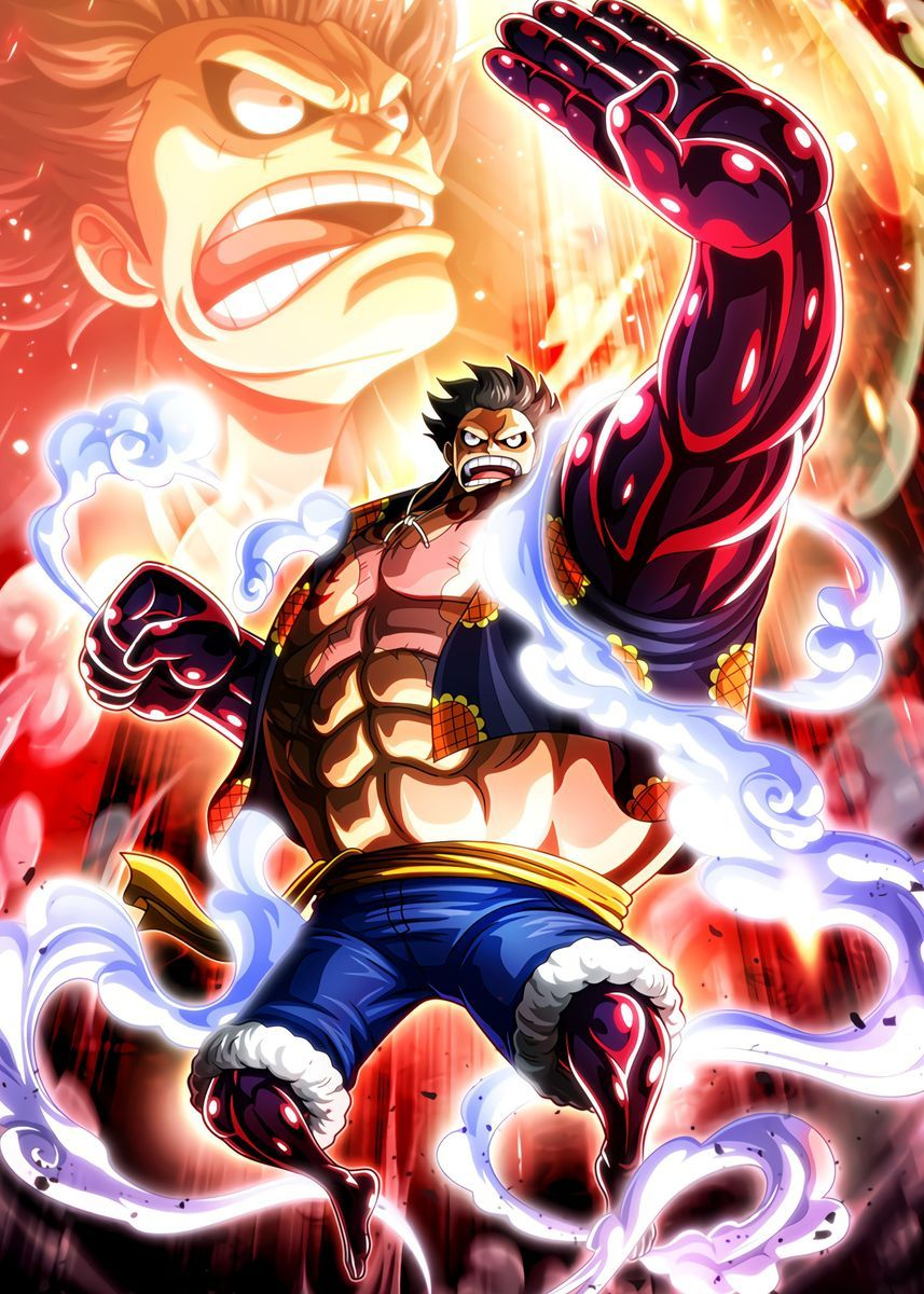Luffy Gear 4 One Piece Poster By Onepiecetreasure Displate Manga Anime One Piece Anime Poster One Piece Anime