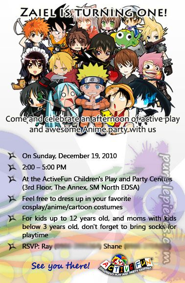 Cosplay Party Invitation