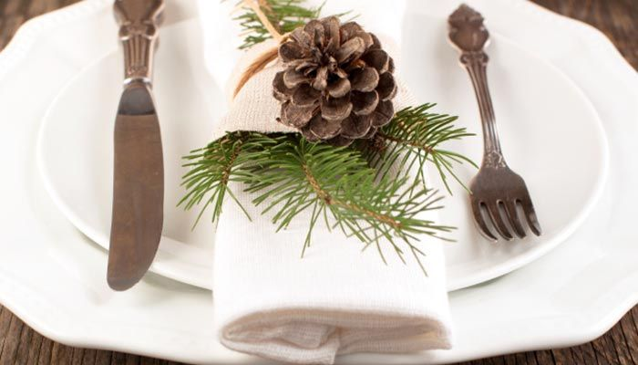 Natur Deko Tannenzweige Tannenzapfen Tischdeko Weihnachten