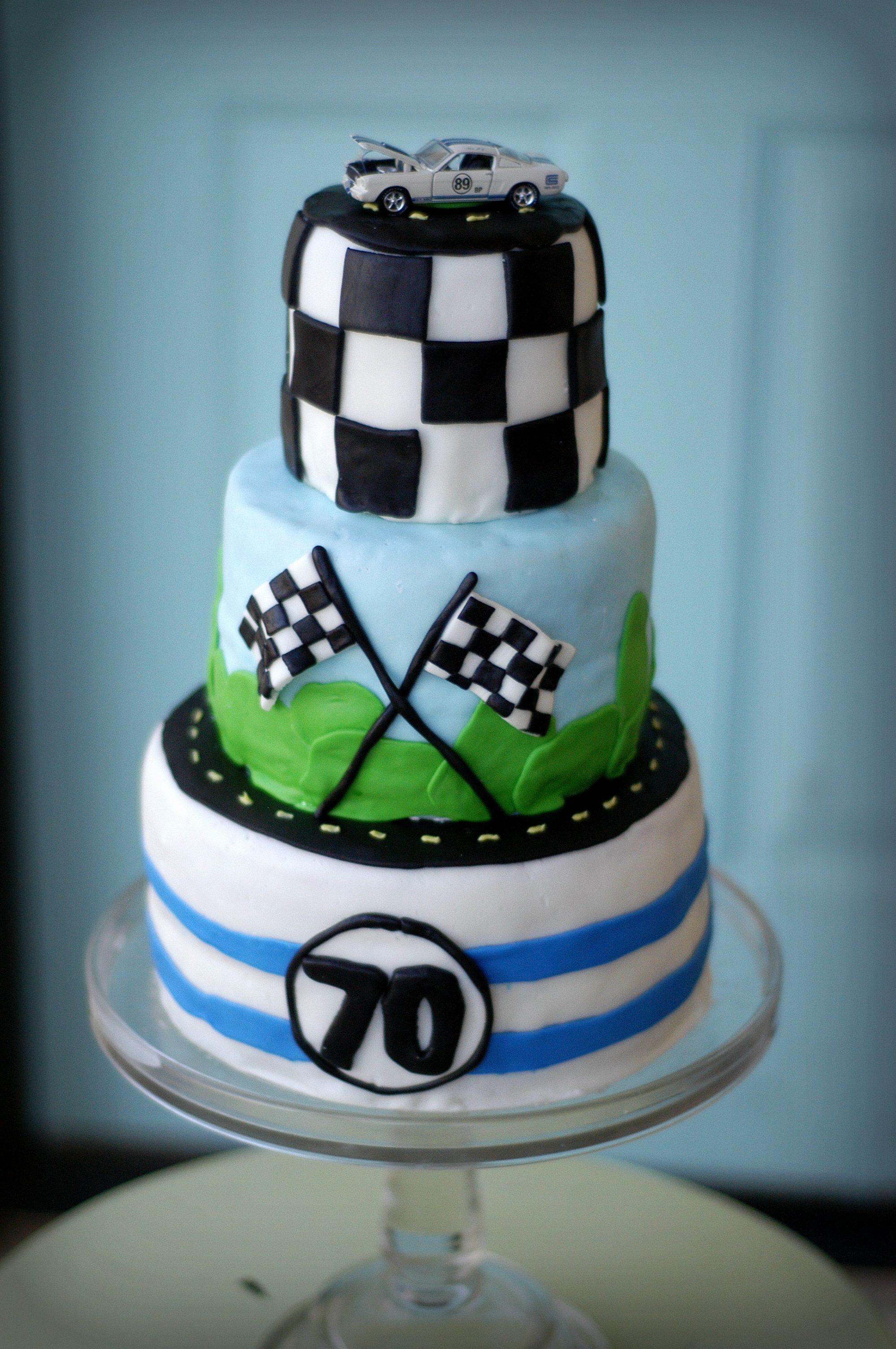 Shelby Mustang Cake Race Car Cake For My Fathers 70th