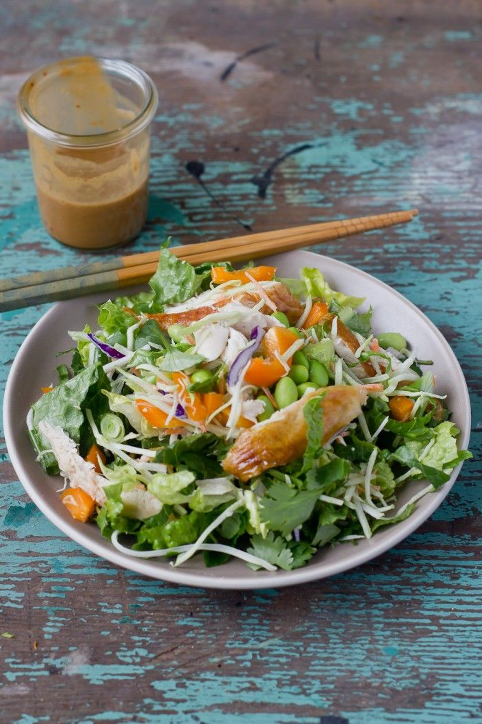Asian Chicken Salad by Playin with My Food    http://playinwithmyfood.com/2013/01/19/15-min-asian-chicken-salad/#
