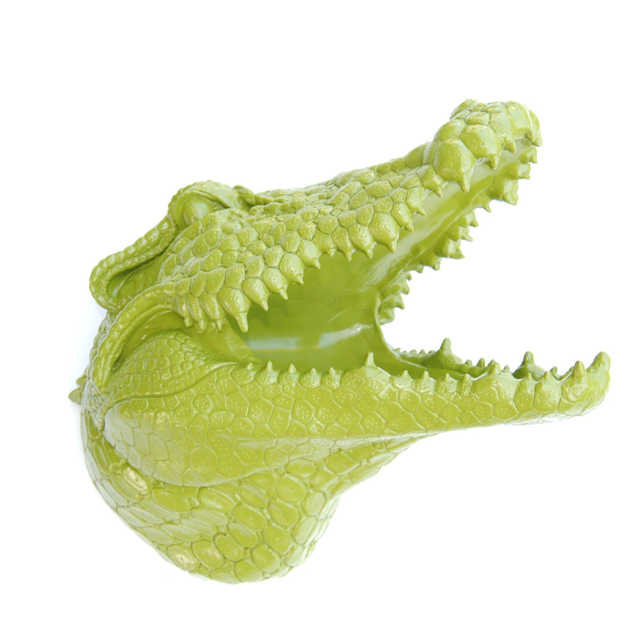 Faux Taxidermy Alligator Head Wall Décor | Faux taxidermy, Taxidermy ...