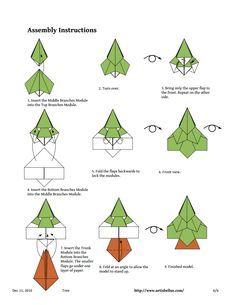 artisbellus tree diagram pdf origami pinterest diagram rh pinterest com Christmas Origami Snowflake christmas tree origami diagram