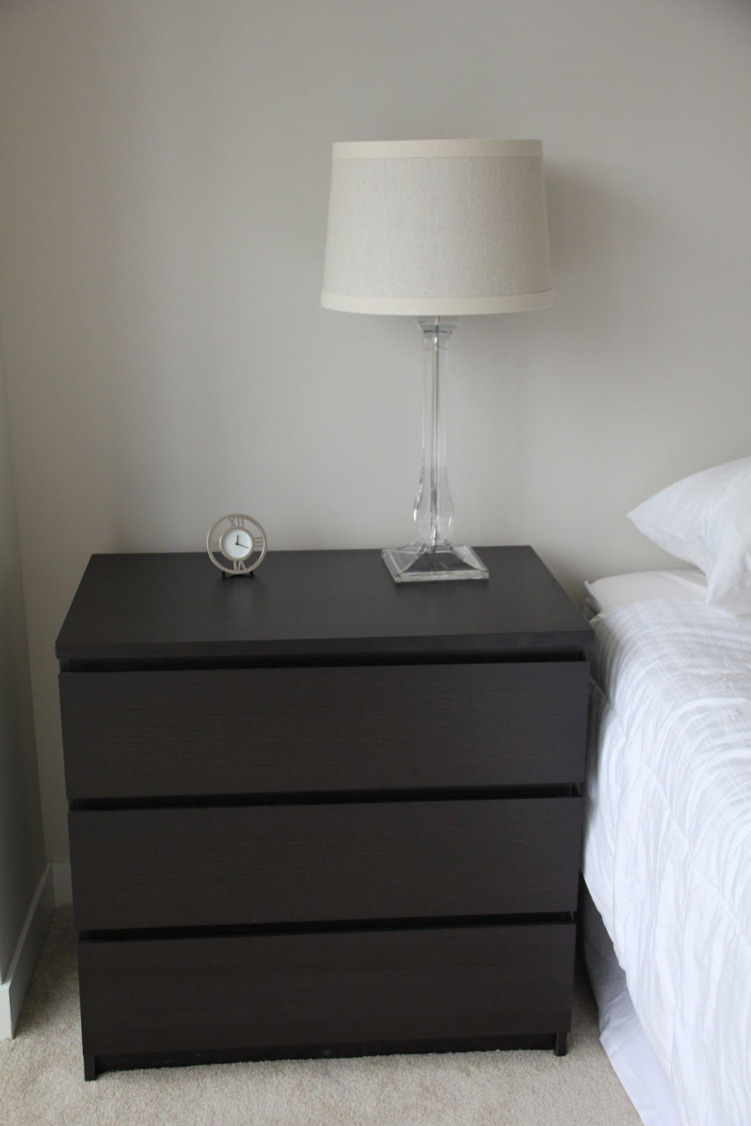 Malm 3 Drawer As Night Stand Furniture Pinterest