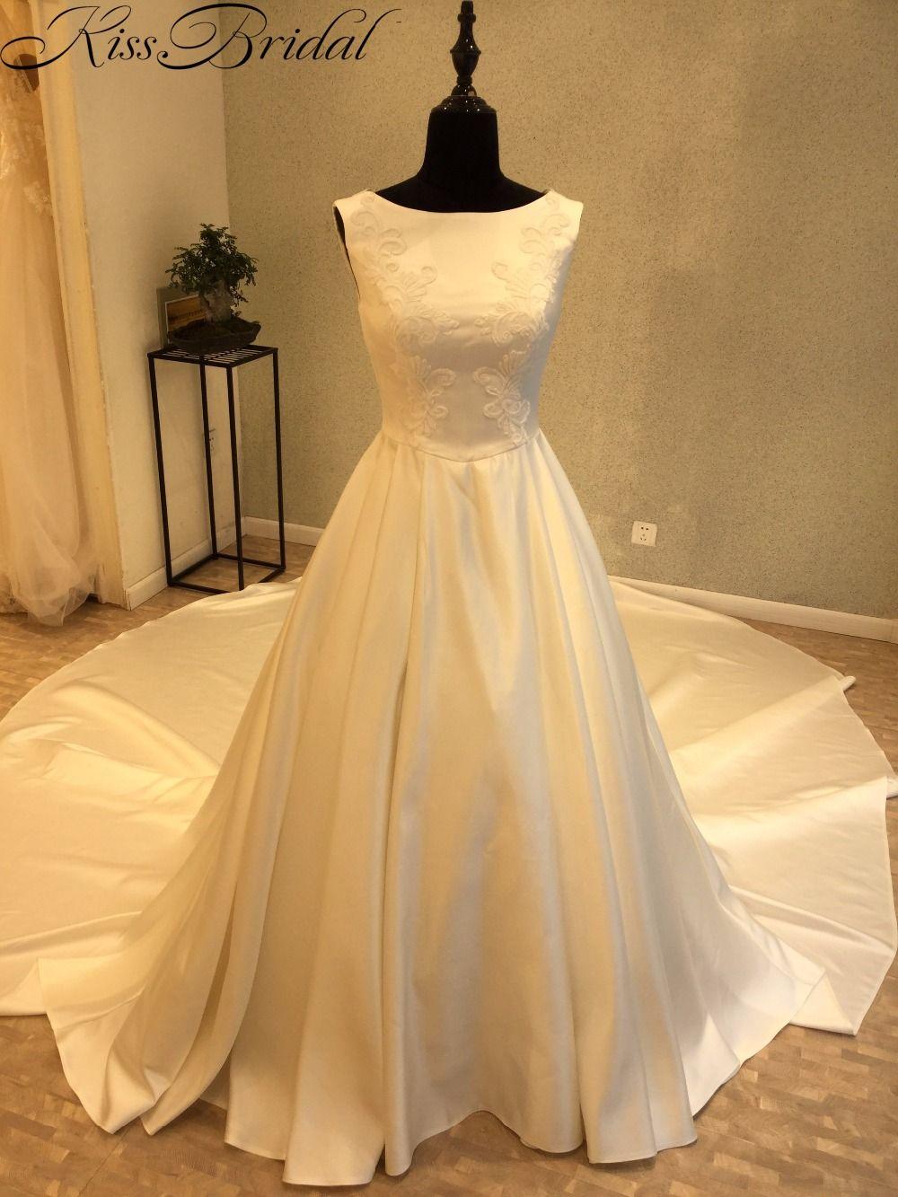 Vestidos de noiva hot sale cheap wedding dress with long tail us