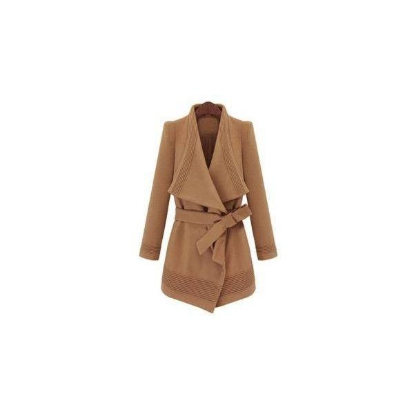 Winter Coats & Jackets For Women -YOINS ❤ liked on Polyvore featuring outerwear, coats, brown parka, long coat, brown coat, long parka coat and long brown coat