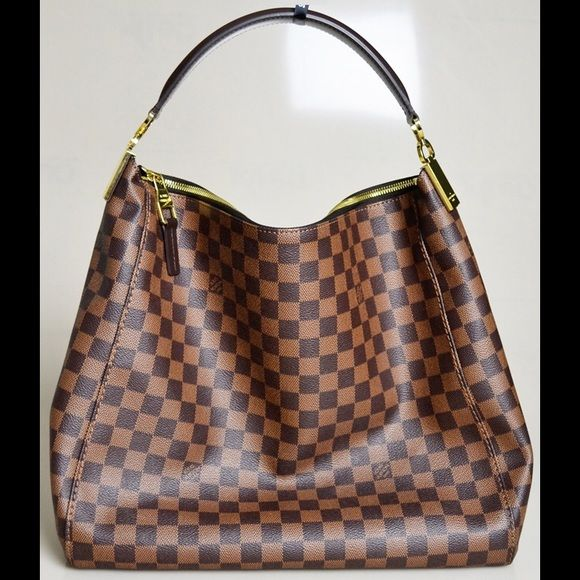 2b25c5f94163 Like NEW Louis Vuitton Portobello PM Authentic Louis Vuitton Portobello PM  in Damier Ebene. Worn less than 3 times   bought new. Includes receipt and  dust ...