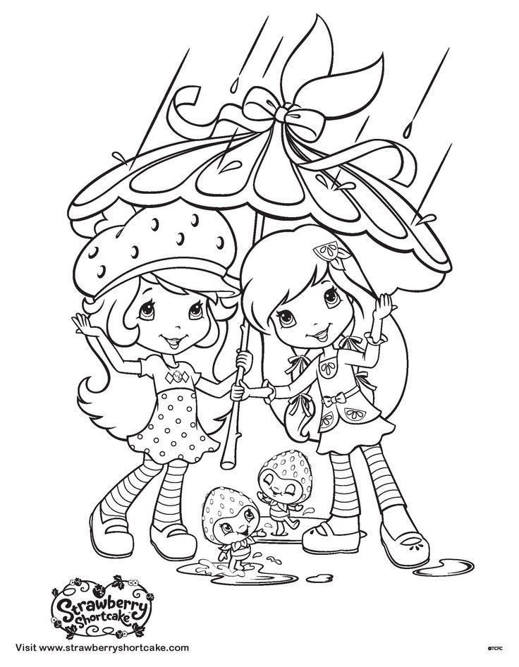strawberry shortcake coloring pages 2736 pics to color