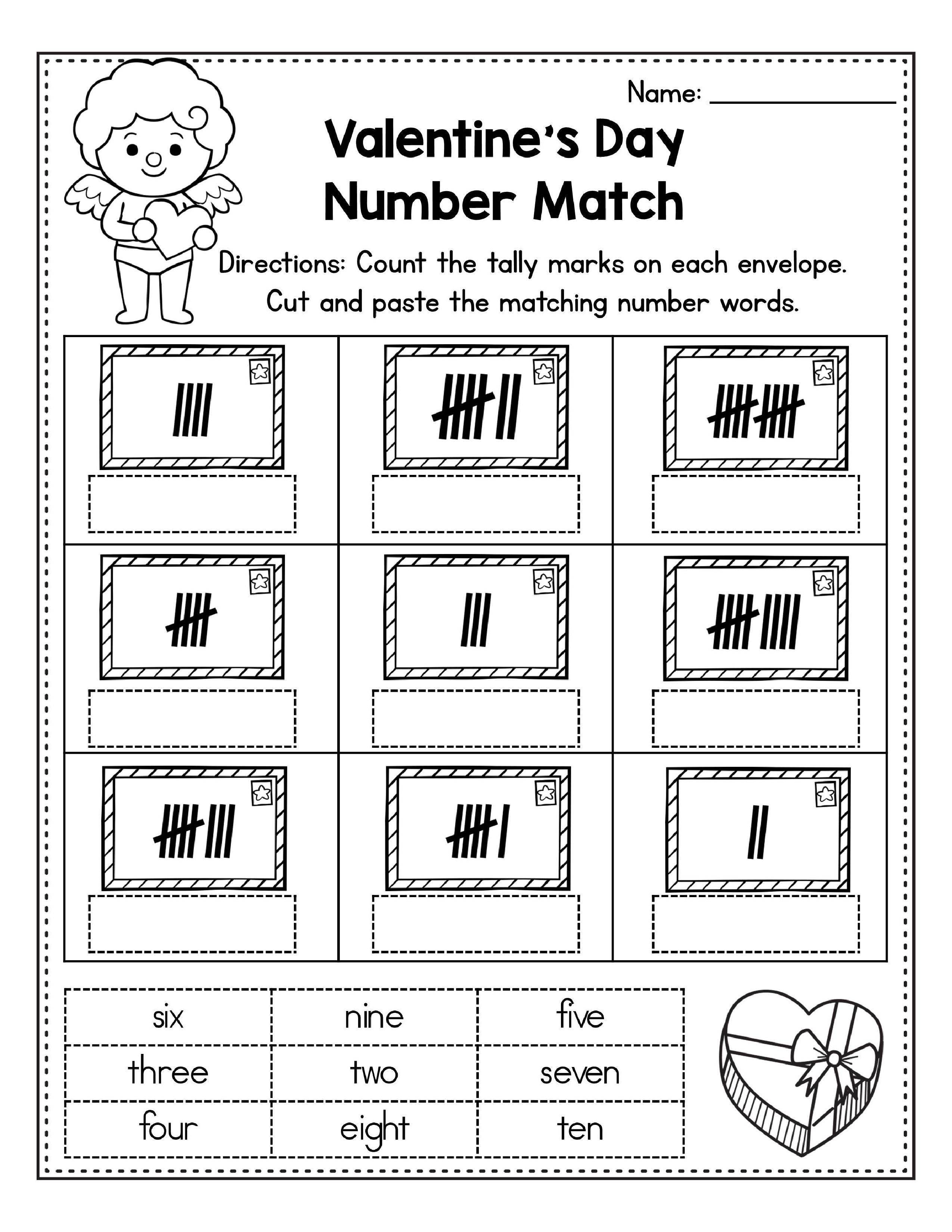 Free Valentine S Day Worksheets And Printables For Kindergarten And Preschool In 2021 Classroom Freebies Special Education Autism Holiday Lessons [ 3300 x 2549 Pixel ]