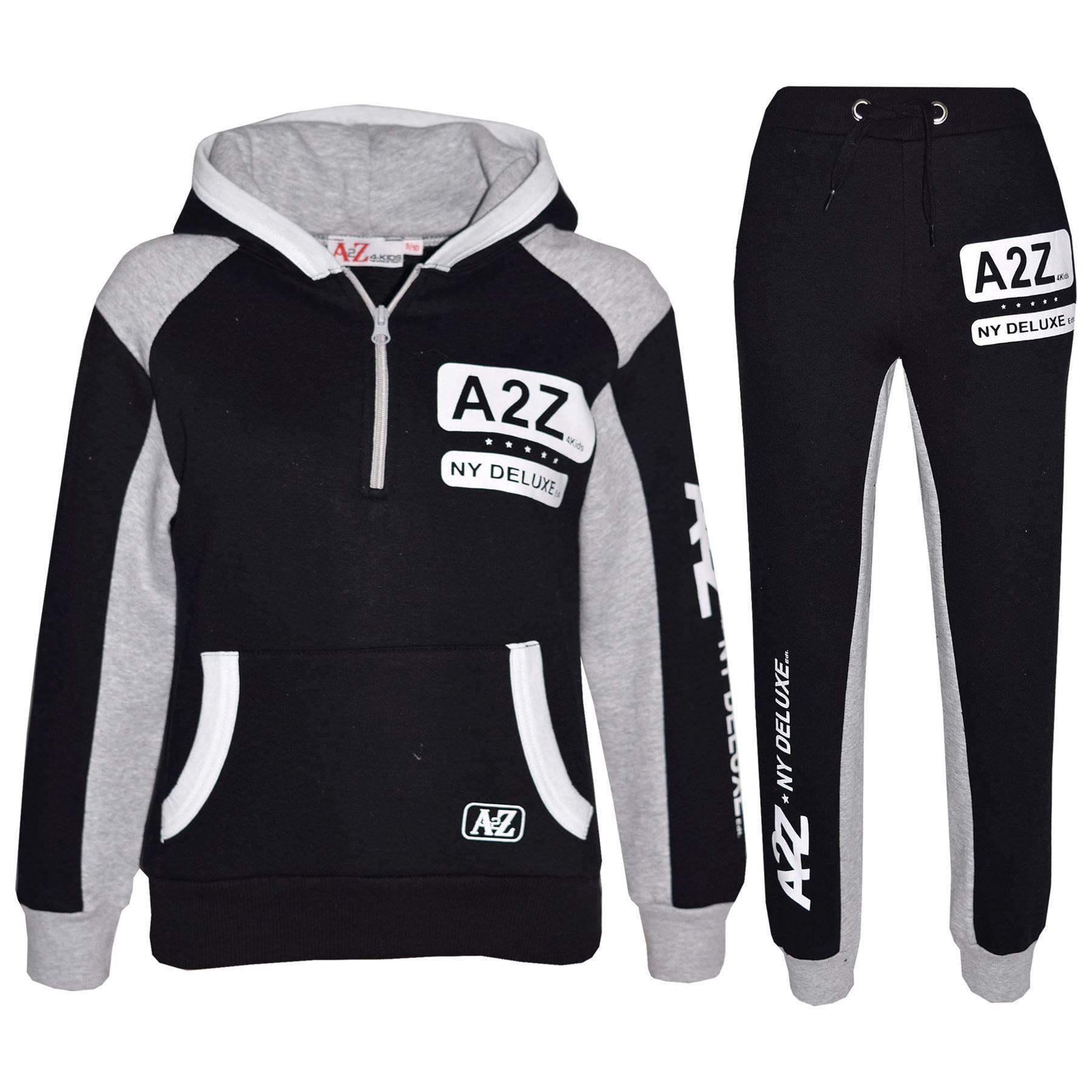 Kids Tracksuit Designer/'s Girls Boys Zipped Top /& Bottom Jogging Suit 7-13 Years