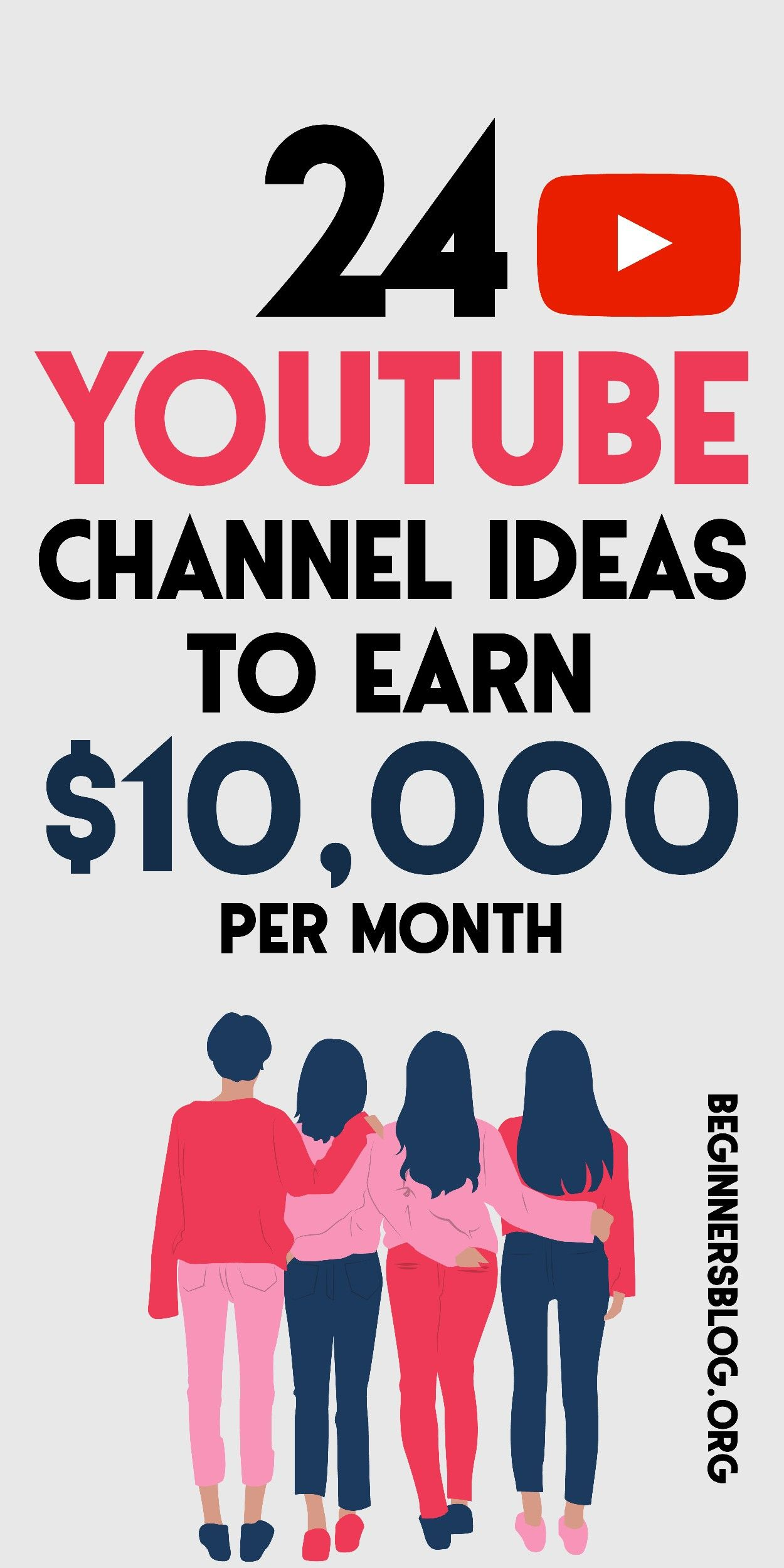 YouTube Channel Ideas That Will Make You $10,000 E