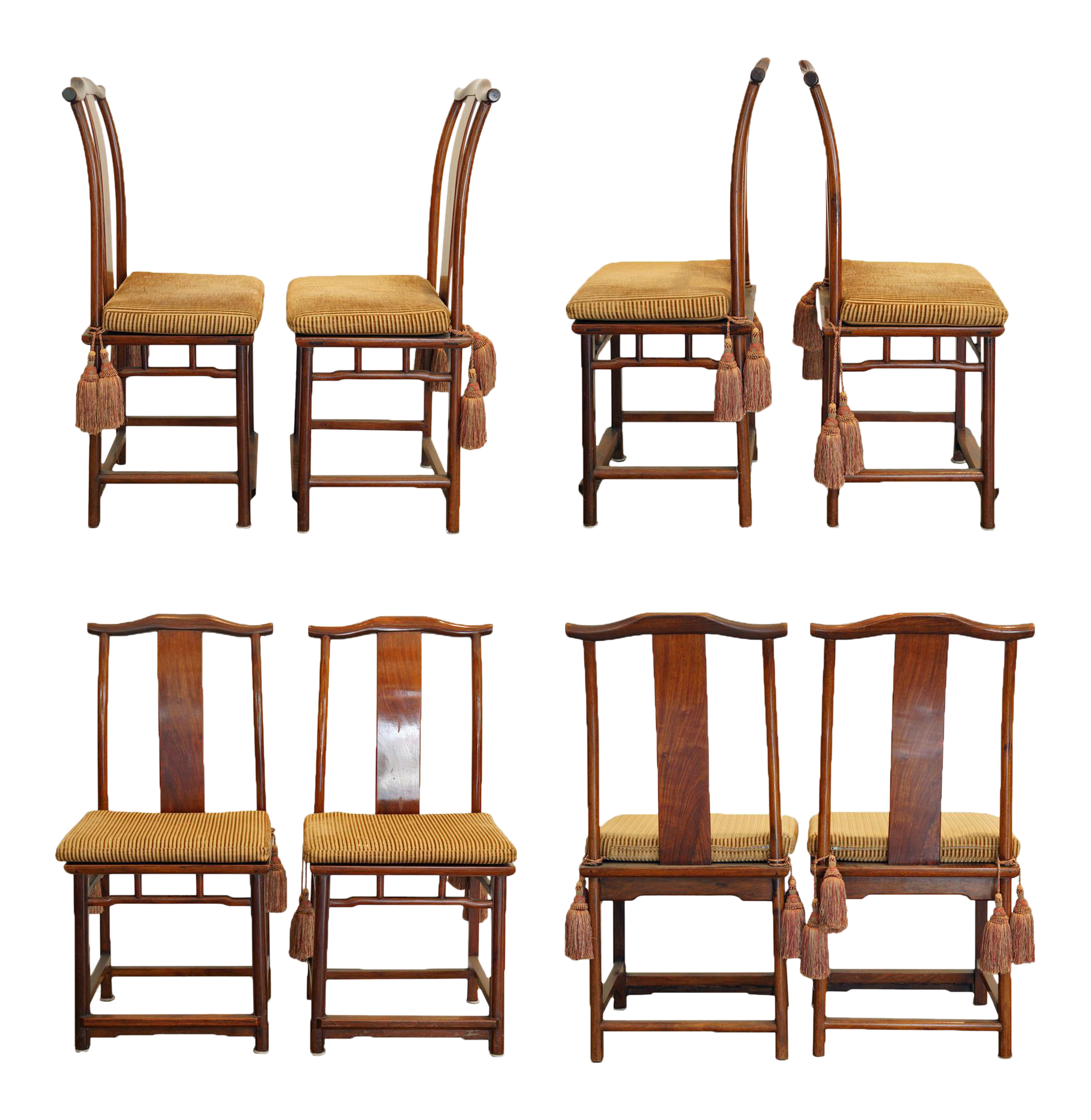 Yolk Back Ming Style Chinese Dining Chairs Set Of 8 On Chairish