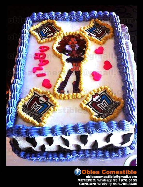 Para nuestras pequeñas fans de Monster High, un regalo con Oblea Comestible es perfecto! www.obleacomestible.net Whatsapp: 5519705155 obleacomestible@gmail.com