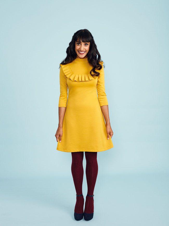 Freya sweater + dress sewing pattern from Stretch book