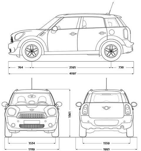 Dimensions Mini Countryman