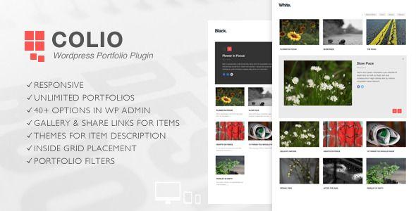 Colio - Responsive Portfolio Wordpress Plugin . Colio – Responsive ...