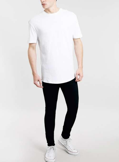 TOPMAN 'spray on skinny' jeans black 34S