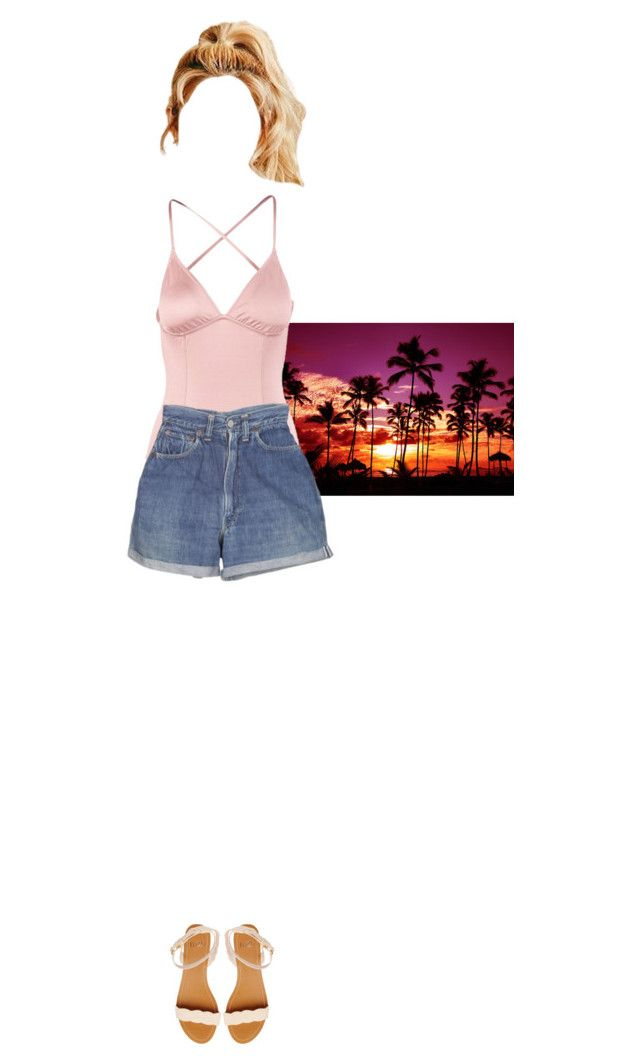 """""""GirlEE — 'Party' MV Lily Scene"""" by bbykms ❤ liked on Polyvore featuring Eberjey, Levi's and Faith"""