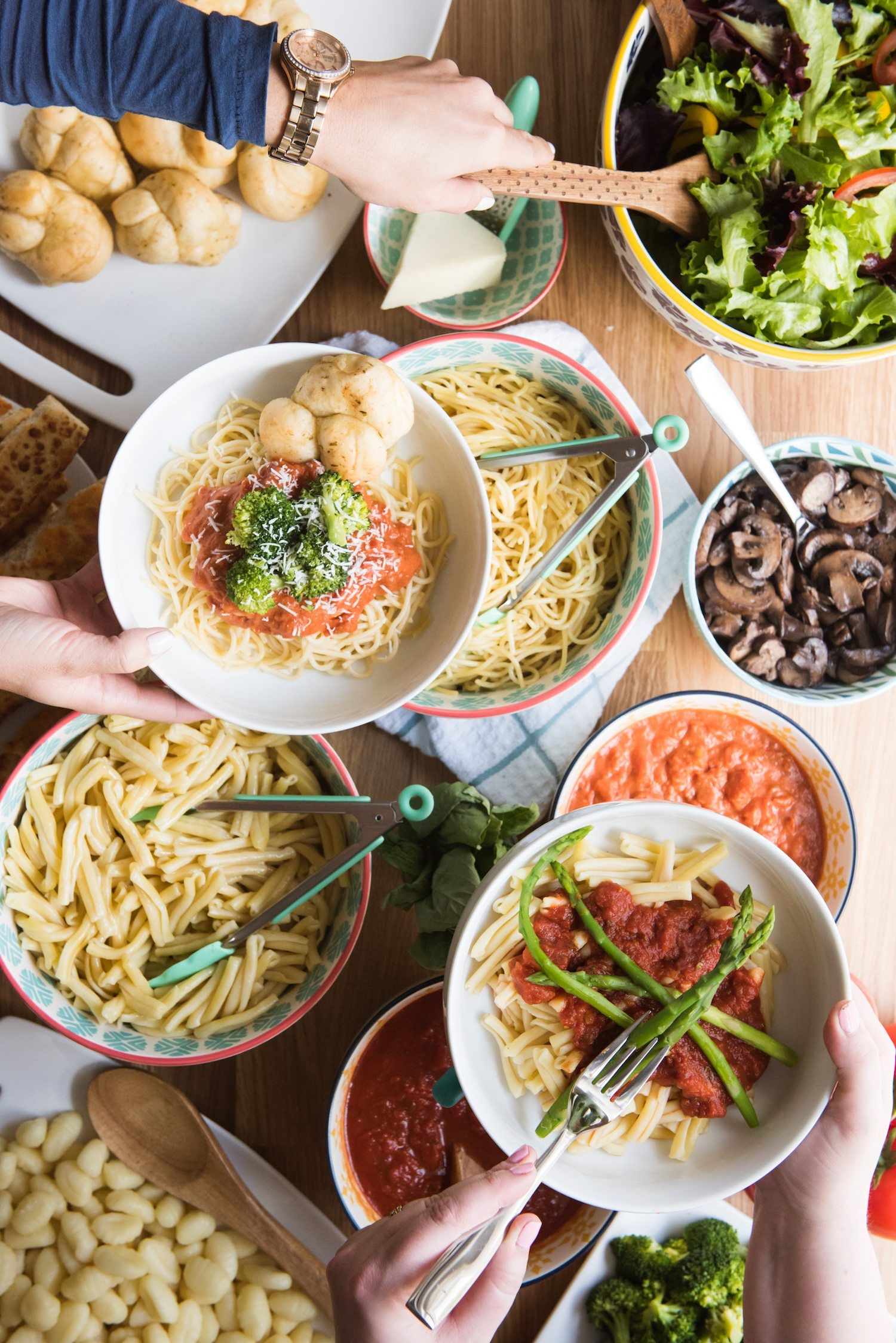 Host An Awesome Dinner Party With A Make Your Own Pasta Bar Pasta Bar Make Your Own Pasta Super Easy Dinner